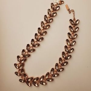 Baublebar rose gold flower leaf necklace